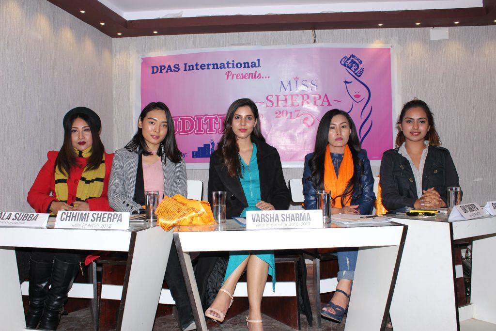 """""""मिस शेर्पा २०१७"""" को अडिसन सम्पन्न"""