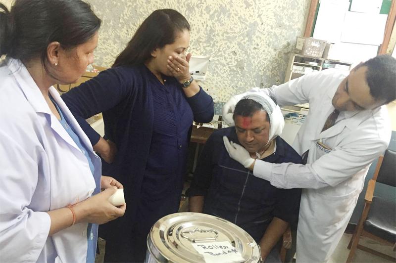 ताजा अपडेटः गगन थापाको घरदैलो कार्यक्रममा विस्फोट, थापासहित ९ घाइते