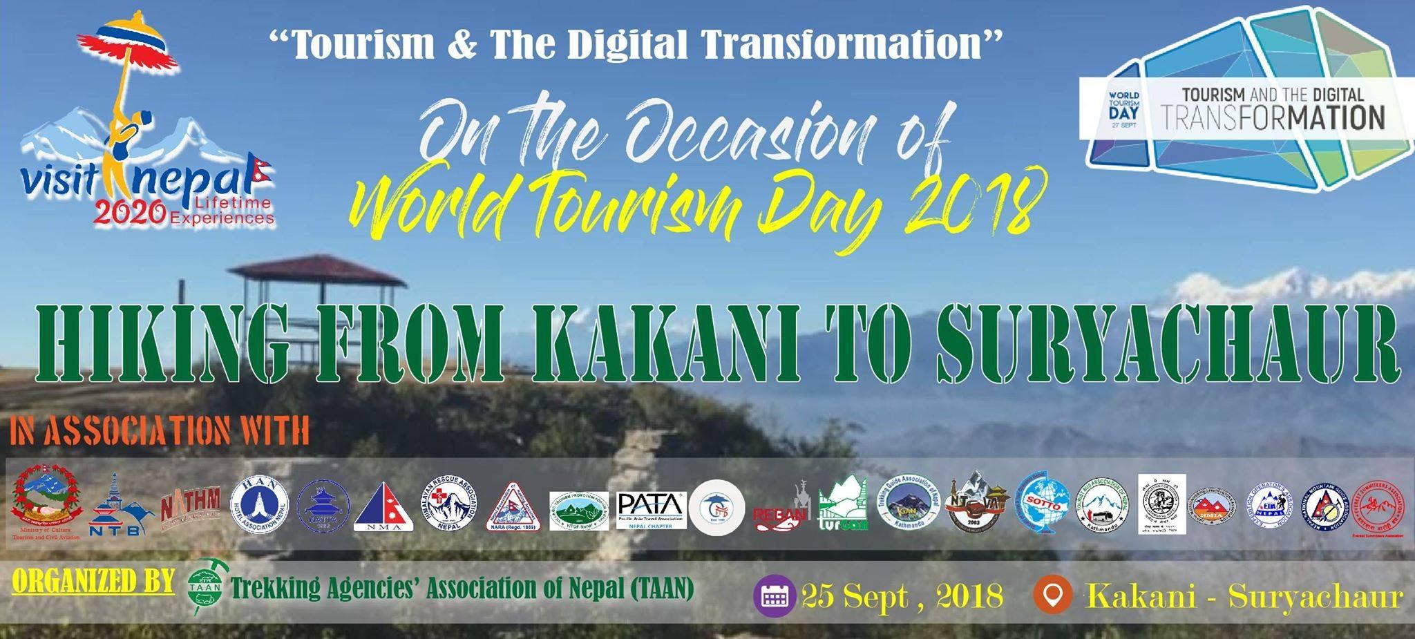 विश्व पर्यटन दिवसको अवसरमा टानको हाइकिङ कार्यक्रम