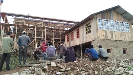 किल्खोरदिङ गुम्बा पुनः निर्माण ओखलढुंगाबासी हर्षित