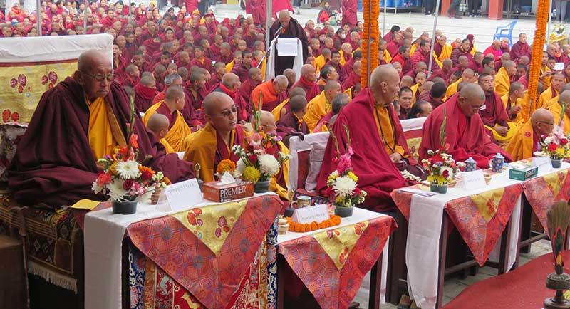 काठमाण्डौमा छ दिने दसौं ञिङ्मा मोन्लाम शुरु