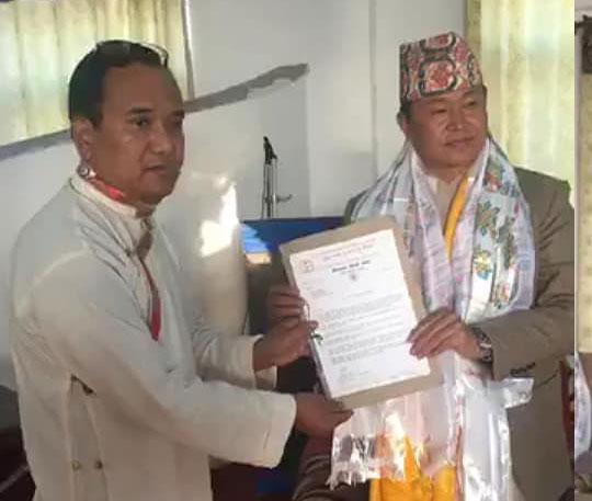 शेर्पा संघले १ नम्बर प्रदेशको नामकरण शेर्पा प्रदेश हुनुपर्ने माग राख्दै  ज्ञापन - पत्र