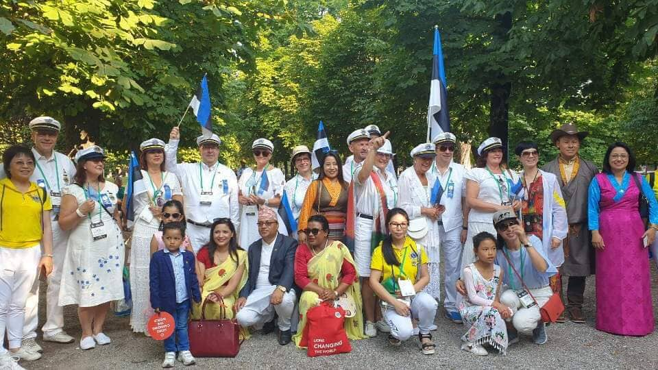 लायान्स क्लब अफ नेपाल शेभ हिमालय मिलन कन्भेन्सनमा सहभागी