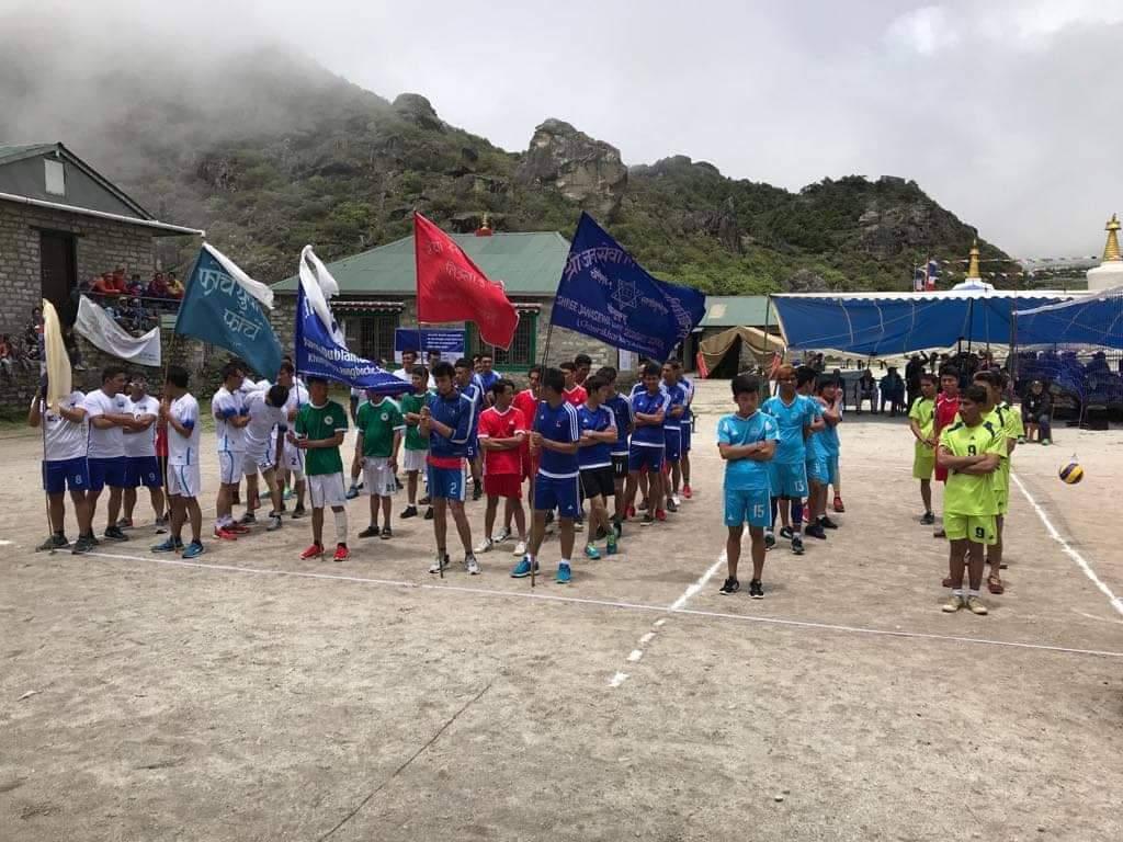 कोन्छोम्बी स्मृति कप पहिले खेल सम्पन्न सेमिफाइनल र फाइनल खेल भोली हुने