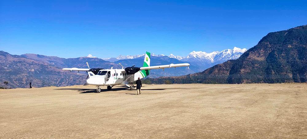 खिजीदेम्वास्थित खिजीचण्डेश्वरी विमानस्थलमा सफल परीक्षण उडान