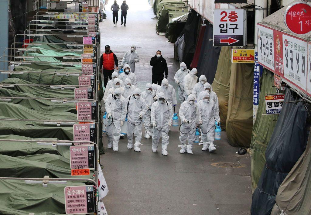 कोरियामा कोरोना भाइरसको प्रकोप बढ्न थाले