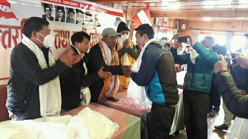 खुम्बु पासाङल्हमु गाउँपालिकामा १५८ युवा नेपाली कांग्रेसमा प्रवेश